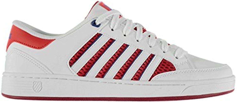 K Swiss Barnwell (Turnschuhe Herren weisssszlig/Rot/Blau Sportschuhe Sneakers Schuhe
