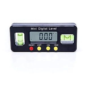 primrosely 100/150 / 200mm Nivel De Burbuja Pequeño Nivel De Alcohol Digital Magnético Electrónico, Ángulo del Transportador