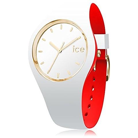 ICE-Watch - 007239 - Loulou White Gold - Montre Femme - Cadran Blanc - Bracelet Silicone Blanc