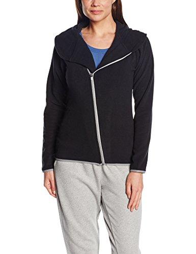 Intimuse Damen Sport Fleece Jacke, Schwarz (Schwarz), 48 (Herstellergröße: XL)