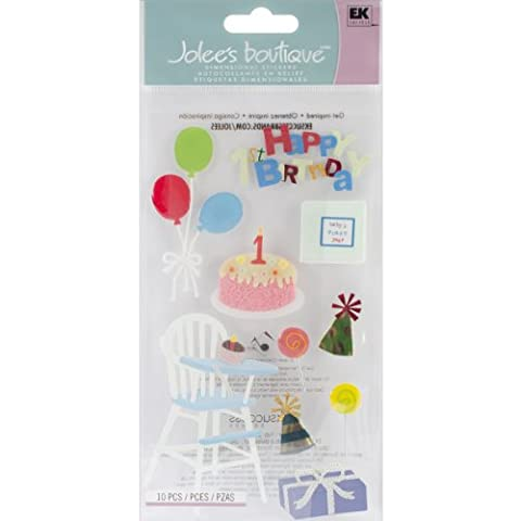 Jolee's Boutique Le Grande Dimensional Sticker-Birthday