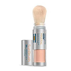FOTOPROTECTOR ISDIN SUN BRUSH MINERAL SPF 30 4g |  Protector solar en brocha | Antipolución | Cobertura natural sobre maquillaje