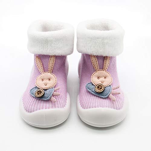 Delleu Baby Rutschfeste Booties Neugeborenen Weiche Strick Winter Warme Krippe Schuhe Kleinkind Schuhe Fußbodensocken