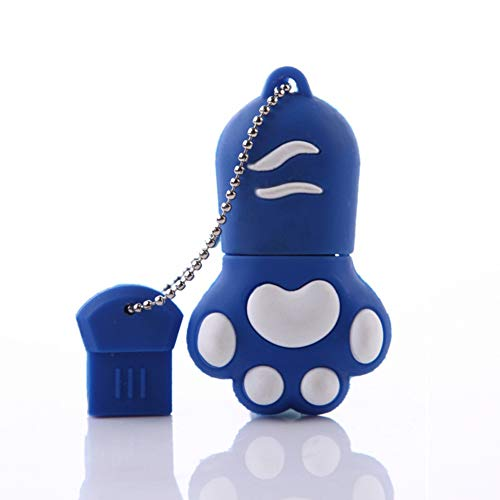 16G USB Flash Drive Memory Stick Neuheit Silica Niedlichen Cartoon Katze Klaue U Disk USB Flash Drive Daten Reisenden Großes Geschenk Für Festival Geburtstag größe 16 GB,Blue,32GB -