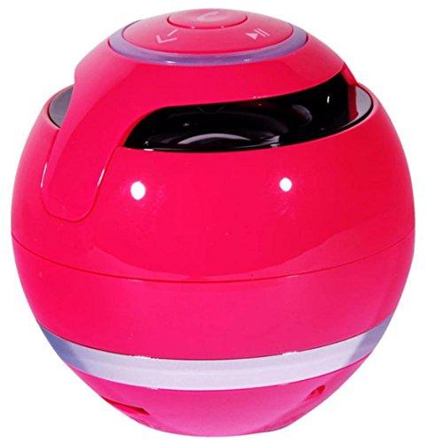 Tefamore Mini altavoz inalámbrico Bluetooth Súper Bajo portátil para Teléfono inteligente (Rosa caliente)