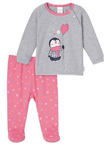 Schiesser Mädchen Zweiteiliger Schlafanzug Baby Anzug 2-teilig, (grau-Mel. 202), 74 (Herstellergröße: ()