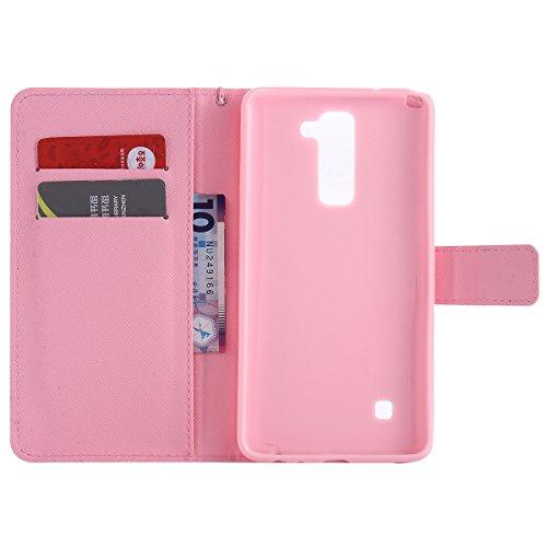 Coque Etui pour LG G Stylo 2 /LG G Stylus 2 LS775, LG G Stylo 2 Coque en Cuir Portefeuille Flip Etui Housse, LG G Stylus 2 LS775 PU Cuir Coque Folio Stand Etui Wallet Case Cover, Ukayfe Etui de Protec tournesol