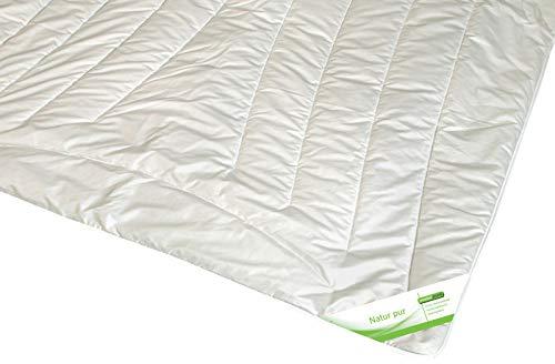 moebelfrank Bettdecke Kamelhaar Ganzjahres-Decke Steppbett Kamelhaardecke Karel, Größe:240x220 cm