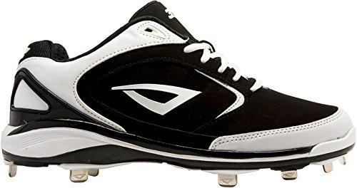 3N2 Men's Pulse+ Baseball Cleat, Black/White, 14