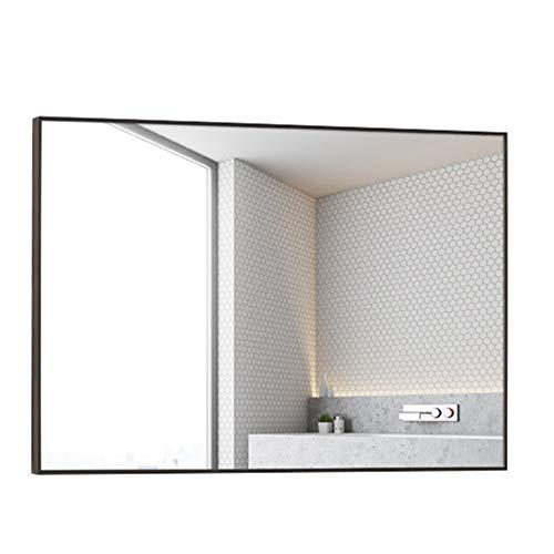 Espejo de baño, Reborde de Metal de Aluminio, Espejo de Pared con Marco, Espejo de vanidad Lateral...