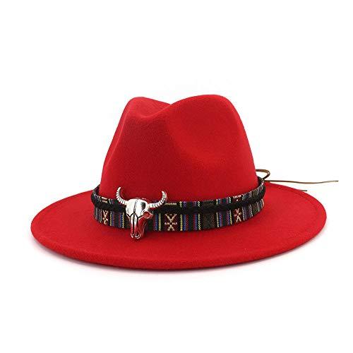 Hat Kostüm Red Lady - youjiu Jazz Hat Lady Frau Minderheitenstufen @ red_Adjustable