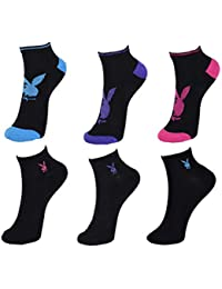 12 Paar Playboy bunte Damen Sneakersocken in 35-38 39-42 in 8 tollen Farben