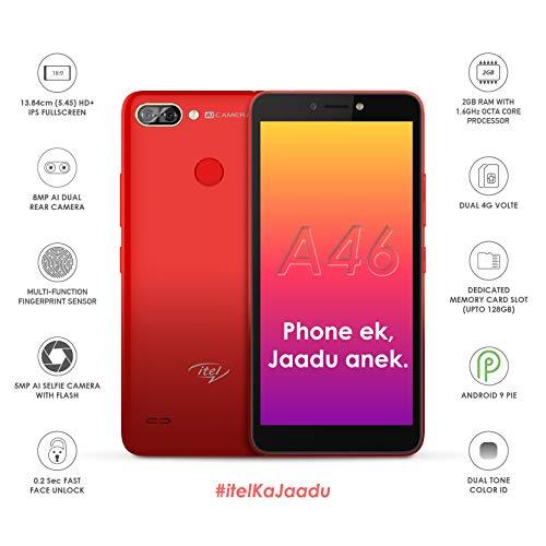 itel A46 (2GB Ram,16GB ROM) (Gradation Red)