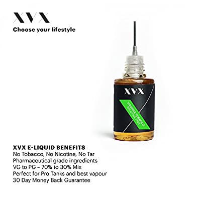 XVX E-Liquid \ Virginia Tabak Geschmack \ Elektronisches Liquid Für E-Zigarette \ Elektronische Shisha Liquid \ 10ml Flasche \ Nadelspitze \ Präzise Befüllung \ Wähle Deinen Lifestyle \ Neu Für 2016 \ Digitaler Rauch \ Nikotinfrei \ Tabakfrei von XVX