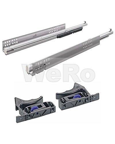 Preisvergleich Produktbild Hettich Vollauszug Quadro V6 mit Silent System für Holzschubkästen NL: 500 mm