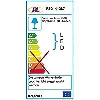 Reality Leuchten Tischleuchte 3 W LED inklusive An/Aus Schalter, Höhe: circa 28 cm, silber R52141387