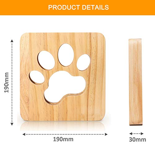 Cute Paw Print Lamp, Creative LED Desk Lamp, USB-Powered Table Light Decor Lamp for Home Living Room, Bedside, Office