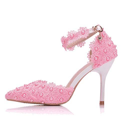 Scarpe da ballo tacco alto da donna,paolian eleganti signore alla moda nobile splendido strass selvaggio con spillo da sposa comodi punti salienti sandali temperamento tacchi alti