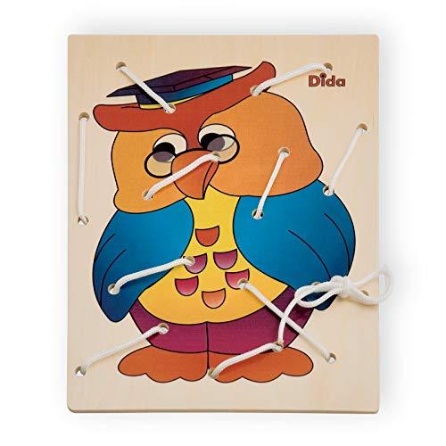 DIDA - Lacing Toy - Bastidor de Lazos - Búho