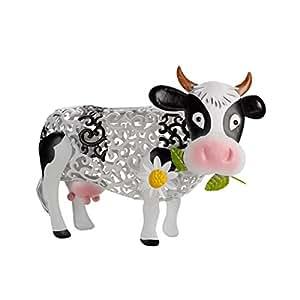 daisy la vache d corative pour le jardin m tallique et. Black Bedroom Furniture Sets. Home Design Ideas