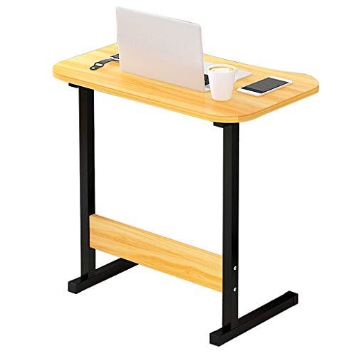 Gy capezzale tavolo porta computer portatile, postazione di lavoro mobile in piedi, pannello di legno, multifunzione domestico portatile tavolino vassoio, 4 colori, 60 * 40cm (colore : beige)