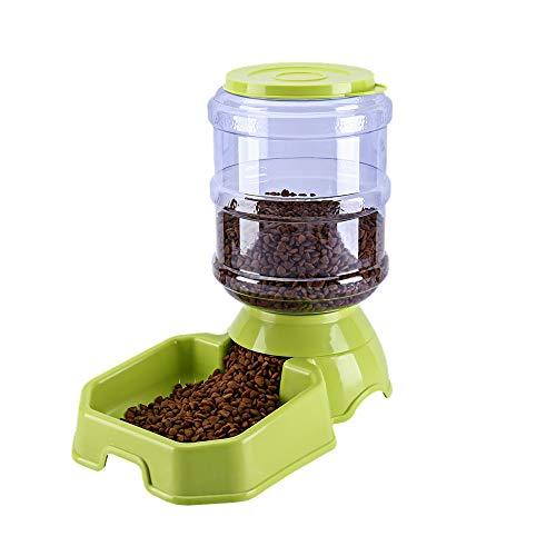 FENGJU Automatischer Futterspender für Hunde und Katzen, mit Füllfederhalter, 3,8 l Fassungsvermögen, Kornfass