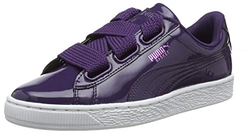 Puma Basket Heart Patent Wn's, Damen Sneakers, Violett (Indigo-Puma White), 39 EU