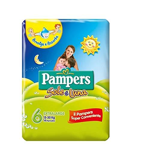 Preisvergleich Produktbild Pampers sole e luna Gr.6 14 Windeln 15-30 kg kinder baby diapers Packung