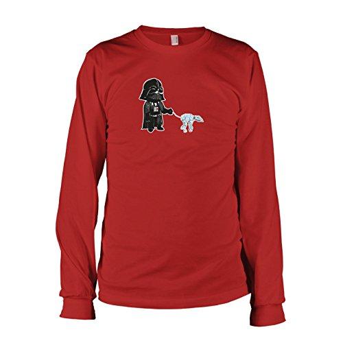 E Wars Kostüm Star Walk (TEXLAB - Vader Walk - Langarm T-Shirt, Herren, Größe L,)
