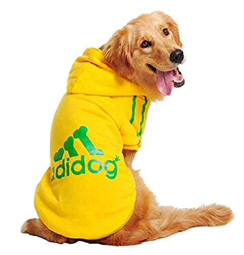 Kostüm Weihnachten Vater Hunde - Inception Pro Infinite Sweatshirt Kostüm - Shirt - T-Shirt - Gelb - Kapuze - Adidog - Hund (XL)
