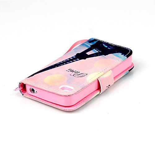 Meet de Apple iPhone 4S Bookstyle Étui Housse étui coque Case Cover smart flip cuir Case à rabat pour Apple iPhone 4S Coque de protection Portefeuille - Yeux bleus Don't touch my phone tour penchée