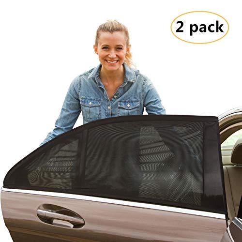 Karids hochwertiger Sonnenschutz fürs Auto ( 2 STÜCK) - Sonnenblende fürs Autofenster zum UV-Schutz und Verdunkelung für Babys, Kinder und Hunde - Schnelle Montage am Seitenfenster für jedes Auto