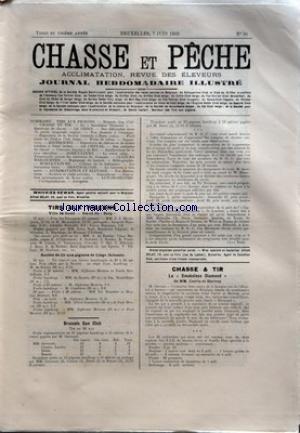 CHASSE ET PECHE [No 36] du 07/06/1903 - TIRS AUX PIGEONS - GAND - SCLESSIN - ARTICLE DE CLAY BIRD - BRUSSELS GUN CLUB - CHASSE ET TIR - LA SMOKELESS DIAMOND DE MM. CURTIS ET HARVEY - POULE BRAEKEL ARGENTEE A M. A. ROMBAUT DE GAND par Collectif