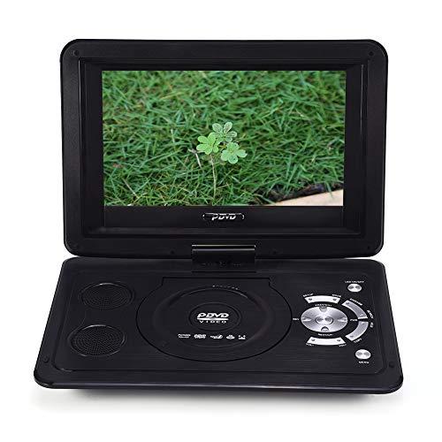 13.9inch Tragbarer DVD-Player, drehbares HD Display Auto Ferseher Unterstützt USB/SD Slot, AV Out/IN, Spiele-Joystick,mit Auto-Ladegerät und Stromadapter (EU)