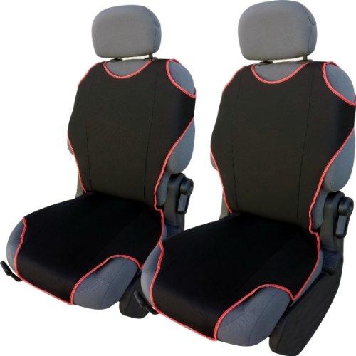 CSC405 - Couvre Siège pour Voiture T Shirt, housse de siège auto Protecteur de siège, coussin cover auto, Retour Coussin Noir (1 paire)