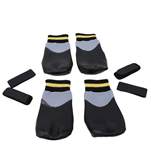 L_shop Wasserdichte Hundesocken Anti Slip Paw Protector Atmungsaktive Schutz Dog Boots Hund Sport Socken Non Slip Schuhe für Indoor Outdoor Wear, wie es Beschreibung (No.5), 5# schwarz ist