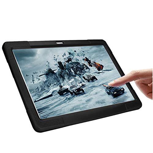 NIUQY Funda de silicona universal portátil adecuada para 10 10.1 pulgadas Tablet PC Android Personalizado Compatible Seguridad de moda Prevención de pérdidas a prueba de golpes (Negro)