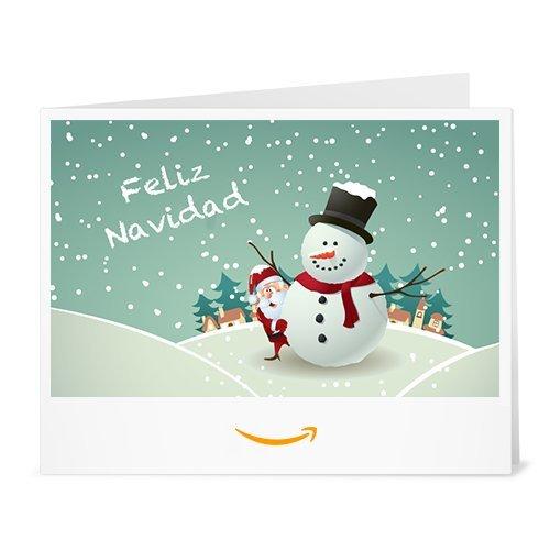 Cheque Regalo de Amazon.es - Imprimir - Santa y el Hombre de Nieve