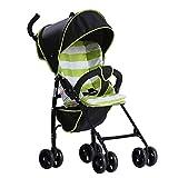 GKBMSP Kinderwagen Faltbar Ultraleicht tragbar Stoßfeste Räder Kinderwagen Reisesystem Faltender Kinderwagen Geeignet für 6-36 Monate Baby,Green