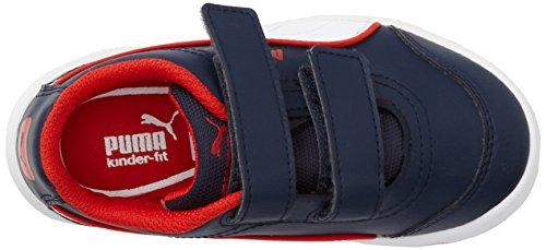 PUMA Stepfleex FS SL V - Calzatura per bambini Blau (peacoat-white-high risk red 09)