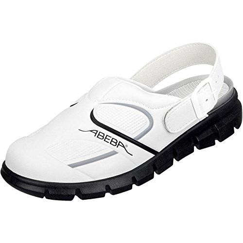 Abeba, Damen Clogs & Pantoletten weiß / schwarz