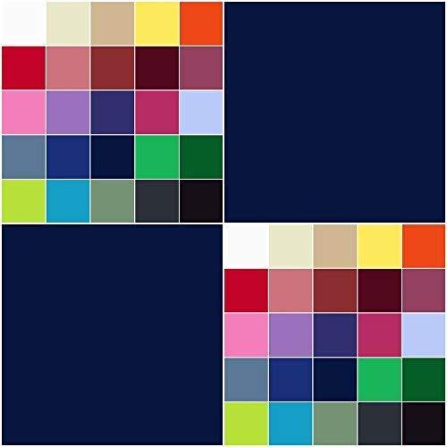 Baumwollstoff UNI Meterware 155g/m² | Ökotex-Standard 100 dicht gewebt 29 Farben (marine, 50 x 150 cm)