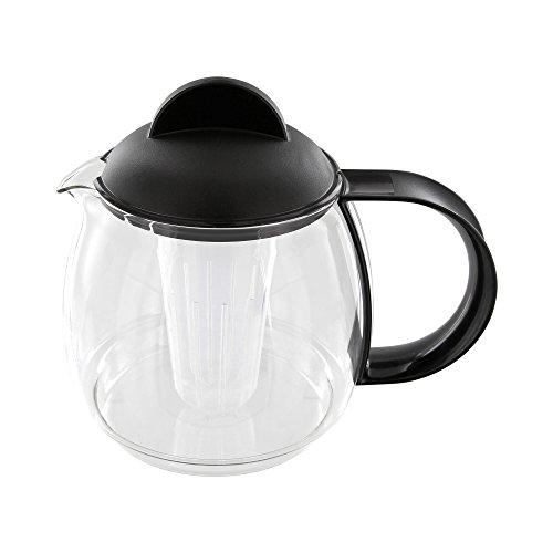 Trendglas Jena 9752S Teekrug / Teekanne, 1.2 Liter, schwarz