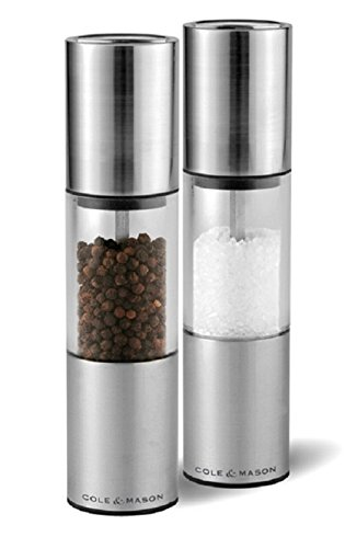 Cole & Mason Precision Oslo Moulins poivre/sel en acrylique et inox 185 mm