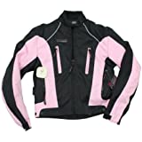 Image of 2 Wheels 72453 Jacket Motorcycle, Pink and Black - Comparsion Tool