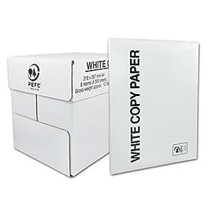 Kopierpapier 2500 A4 Blatt weiß 80 g/m² 2500 SEITEN BLATT KOPIERPAPIER DRUCKERPAPIER PAPIER weiß A4 80g/m² für LASERDRUCKER, TINTENSTRAHLDRUCKER, KOPIERER, FAX