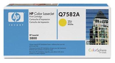 Hewlett Packard -HP- Color Laserjet CP3505N (Q7582A) original Toner-Kartusche - Gelb