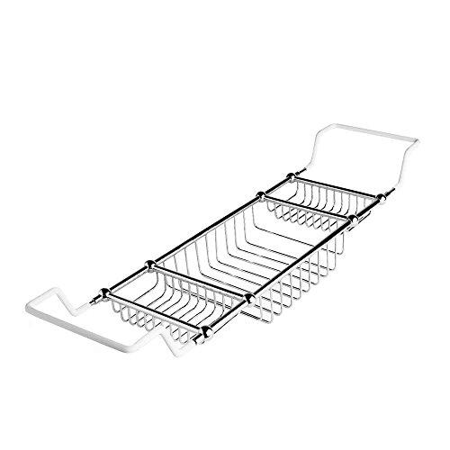 Hudson Reed Bandeja Jabonera con Rejilla Porta Accesorios Para Bañera - Latón Sólido - Acabado Cromado - Accesorios Clásicos Para Baño