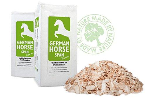Tierstreu Span GHP Premium (Späne grob) Einstreu Tiereinstreu Holzspäne Hobelspäne für Pferde, Kleintiere und Nager 20kg 550L