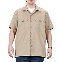 Dickies - Camisa de trabajo con manga corta - Khaki hombre ropa de trabajo DICKIES1574KH